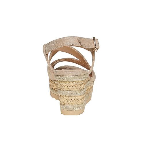 Sandali da donna con zeppa bata, beige, 769-8543 - 17