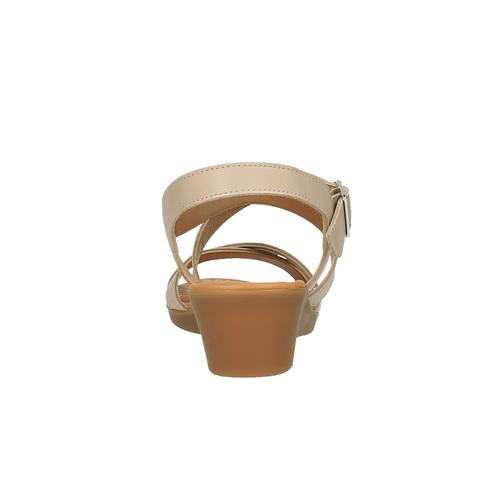 Sandali di pelle con tacco a zeppa sundrops, giallo, 564-8400 - 17