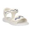 Sandali da ragazza con glitter mini-b, bianco, 261-1159 - 13