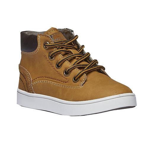 Sneakers da bambino alla caviglia mini-b, giallo, 211-8124 - 13