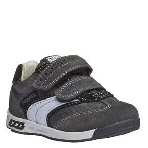 Sneakers in pelle con chiusure a velcro primigi, grigio, 113-2136 - 13
