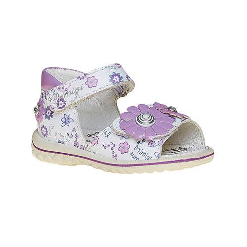 Sandali in pelle per bambina primigi, bianco, 164-1120 - 13