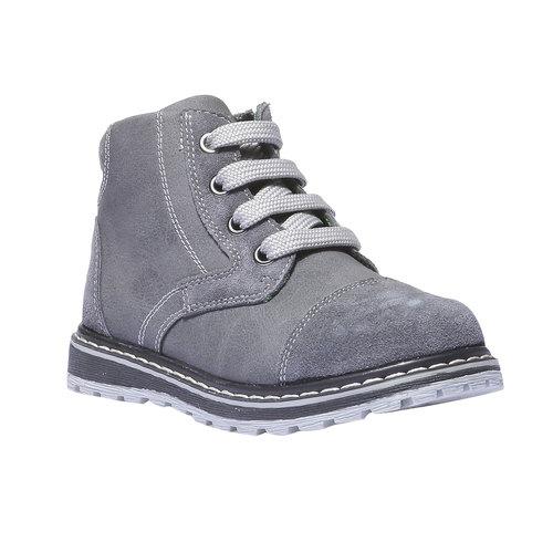 Scarpe di pelle alla caviglia mini-b, grigio, 211-2138 - 13