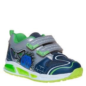 Sneakers da bambino con stampa mini-b, blu, 211-9170 - 13