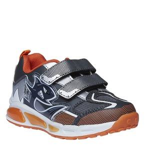 Sneakers da bambino con chiusure a velcro mini-b, grigio, 211-2155 - 13