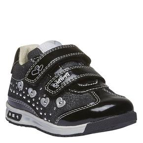 Sneakers in pelle con chiusure a velcro primigi, nero, 123-6134 - 13