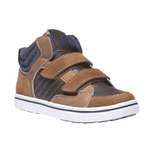 Sneakers da bambino alla caviglia mini-b, giallo, 311-8131 - 13