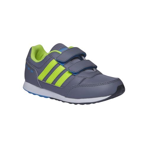 Sneakers da bambino con chiusure a velcro adidas, grigio, 309-2147 - 13