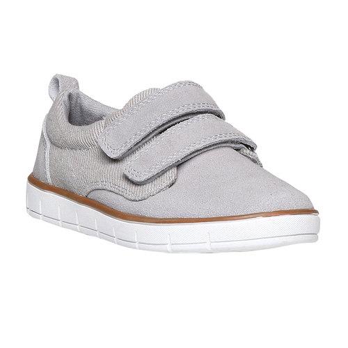Sneakers da bambino in pelle mini-b, grigio, 313-2204 - 13
