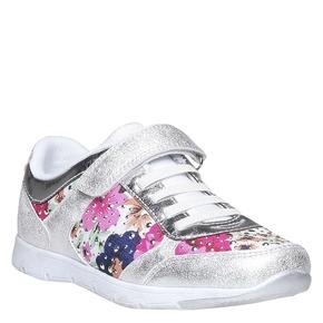 Sneakers da bambino con fiorellini mini-b, bianco, 329-1174 - 13