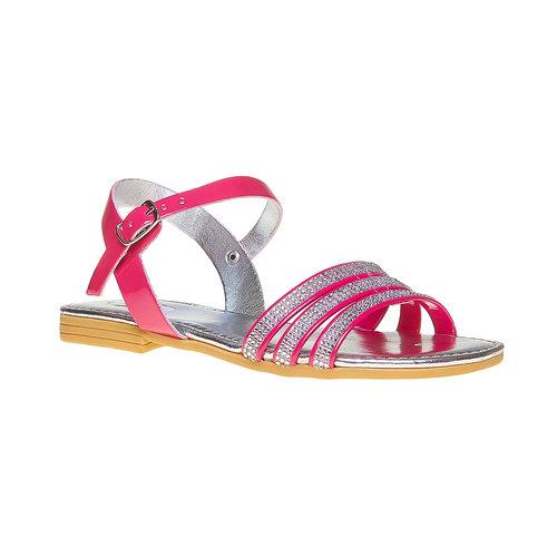 Sandali da ragazza con strass mini-b, rosa, 361-5175 - 13