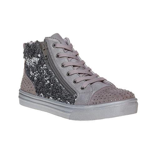Sneakers da bambina con glitter mini-b, grigio, 329-2216 - 13