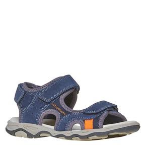 Sandali sportivi da bambino con chiusura a velcro mini-b, blu, 463-9107 - 13