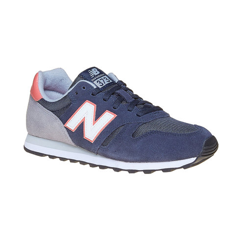 Sneakers da donna in pelle new-balance, blu, 503-9371 - 13