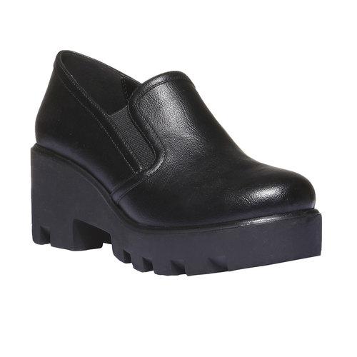 Slip-on con suola massiccia bata, nero, 521-6216 - 13
