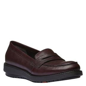 Scarpe di pelle in stile Loafer flexible, rosso, 514-5185 - 13