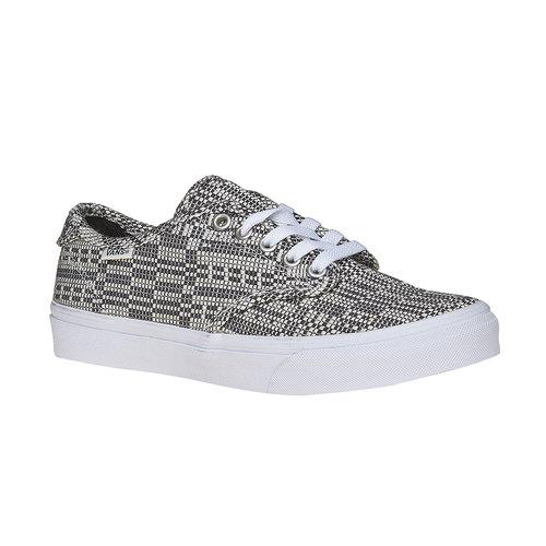 Sneakers da donna con disegno vans, grigio, 509-6311 - 13