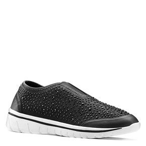 Slip-on con suola di contrasto north-star, nero, 539-6109 - 13