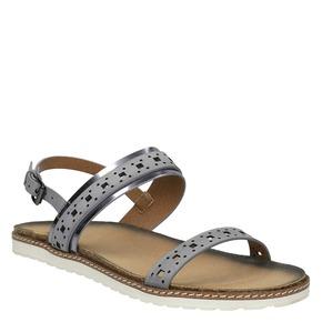 Sandali da donna bata, grigio, 561-2294 - 13