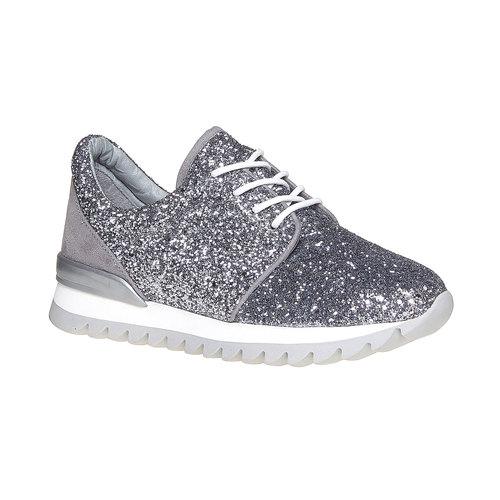 Sneakers da donna con glitter north-star, argento, 549-1262 - 13