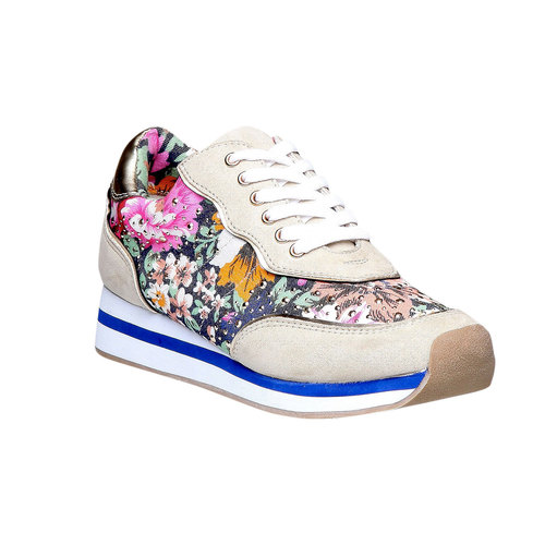 Sneakers da donna con motivo floreale north-star, viola, 549-9211 - 13