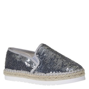 Slip-on da donna con paillettes bata, bianco, 559-1102 - 13