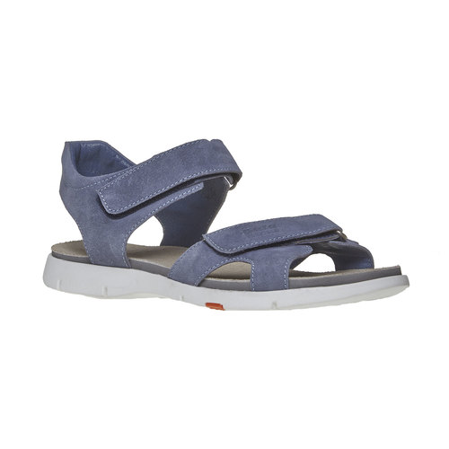 Sandali da donna in pelle flexible, viola, 563-9397 - 13