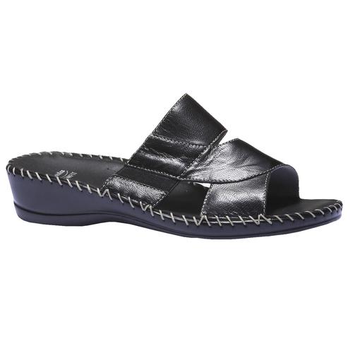 Sandali in pelle bata-comfit, nero, 574-6174 - 13