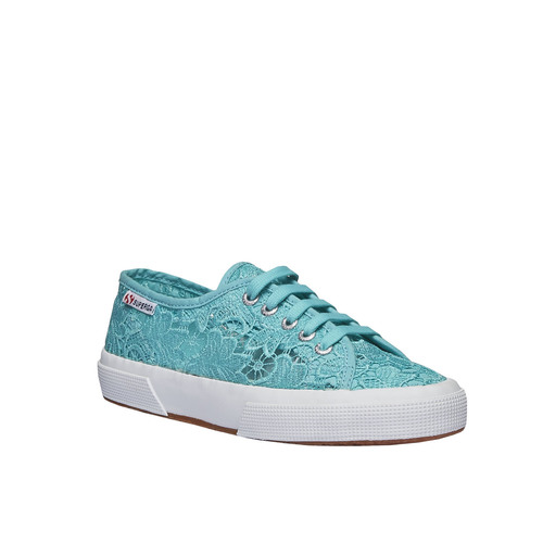 Sneakers con pizzo superga, turchese, 589-9309 - 13
