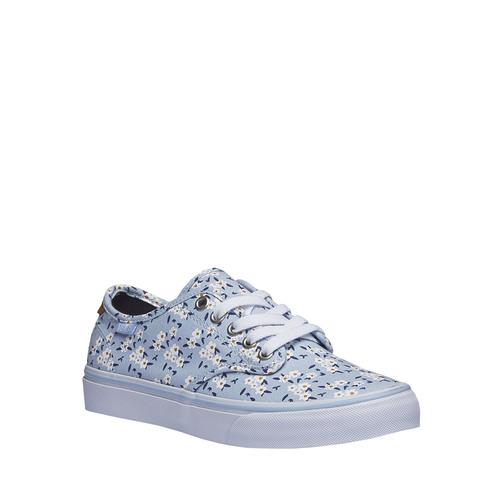 Sneakers da donna con stampa floreale vans, blu, 589-9290 - 13