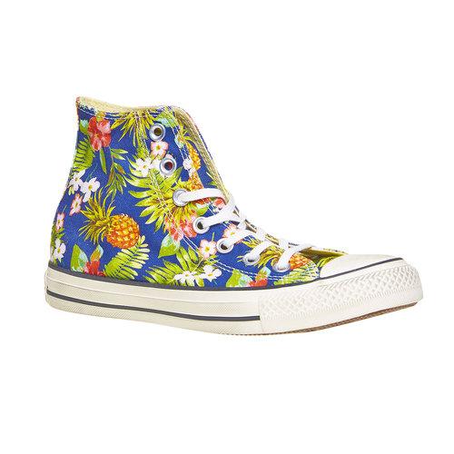 Sneakers alla caviglia con stampa colorata converse, blu, verde, 589-0216 - 13