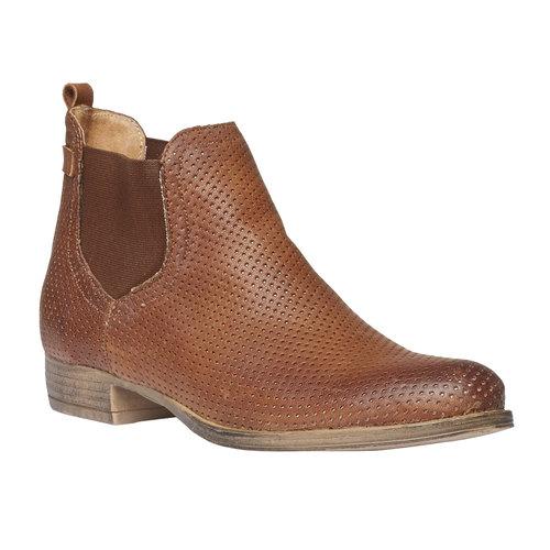 Stivaletti di pelle alla caviglia in stile Chelsea bata, marrone, 594-3546 - 13