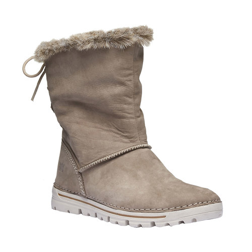 Scarpe di pelle alla caviglia weinbrenner, grigio, 596-2334 - 13