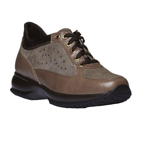 Sneakers da donna di pelle bata, giallo, 623-8229 - 13