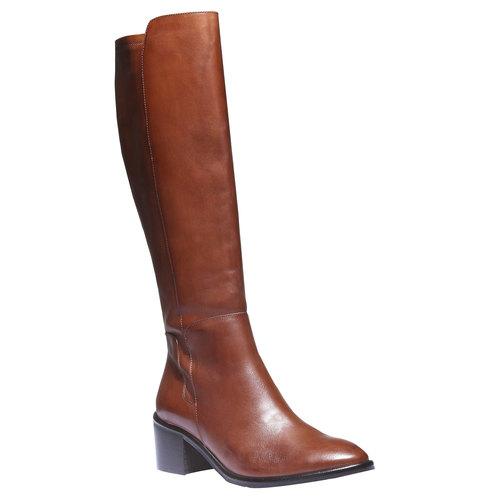 Stivali di pelle bata, marrone, 694-3252 - 13