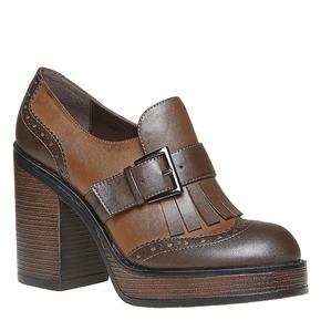 Kiltie Oxford con tacco alto bata, marrone, 721-4191 - 13