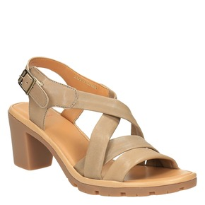 Sandali da donna in pelle flexible, marrone, 764-8538 - 13
