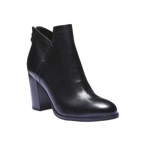 Scarpe di pelle alla caviglia bata, nero, 794-6576 - 13