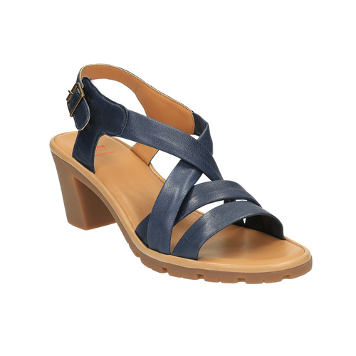 Sandali da donna in pelle flexible, viola, 764-9538 - 13