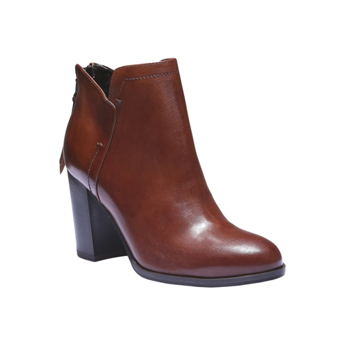 Scarpe di pelle alla caviglia bata, marrone, 794-3576 - 13