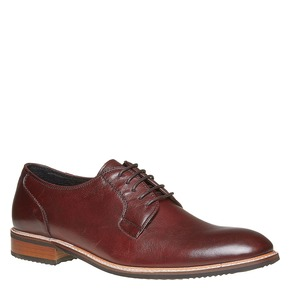 Scarpe basse di pelle in stile Derby bata, rosso, 824-5280 - 13