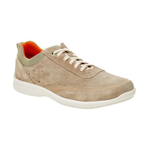 Sneakers informali di pelle bata-comfit, beige, 843-8643 - 13