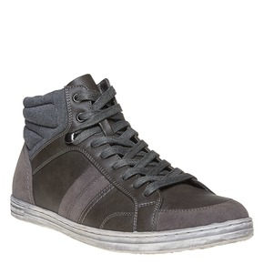 Sneakers grigie sopra la caviglia bata, grigio, 841-2694 - 13