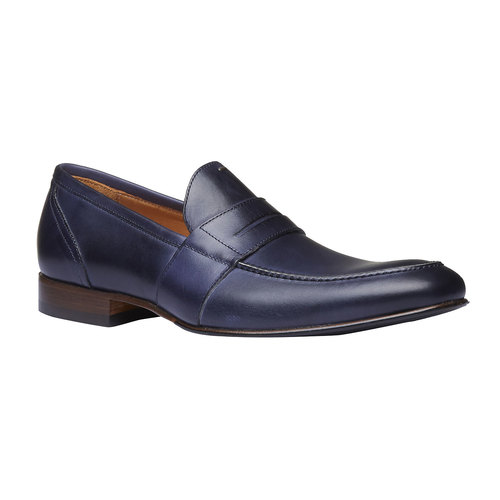 Penny Loafer di pelle bata-the-shoemaker, viola, 814-9146 - 13