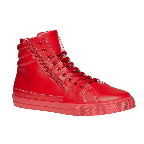 Scarpe da uomo alla caviglia con cerniere north-star, rosso, 841-5503 - 13