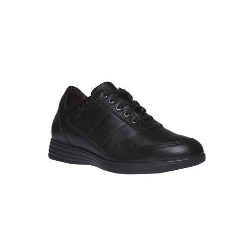 Sneakers informali di pelle air-system, nero, 824-6257 - 13