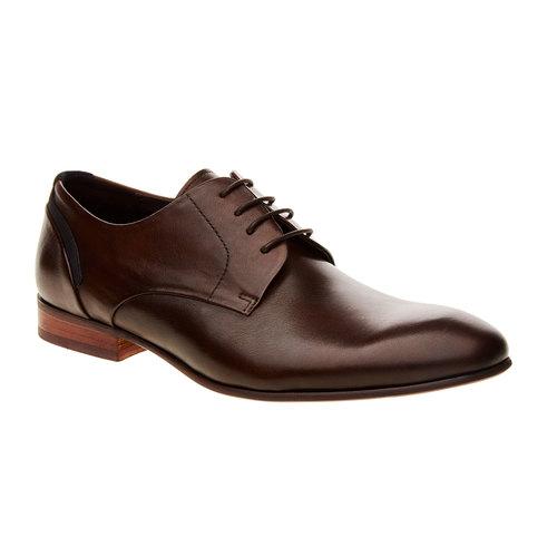 Scarpe basse di pelle in stile Derby bata, marrone, 824-4538 - 13