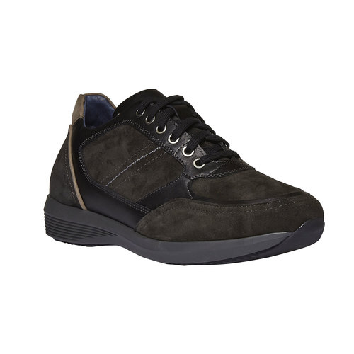 Sneakers scamosciate bata, grigio, 843-2519 - 13