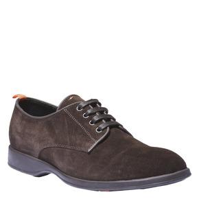 Scarpe basse informali scamosciate flexible, marrone, 823-4340 - 13