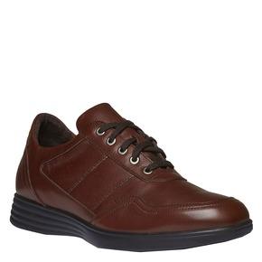 Sneakers informali di pelle air-system, marrone, 824-4257 - 13